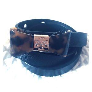 Tory Burch Tortoise Shell Bow Belt